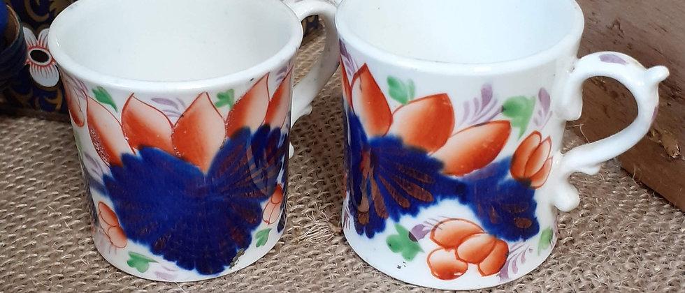 Imari design demi tass cups