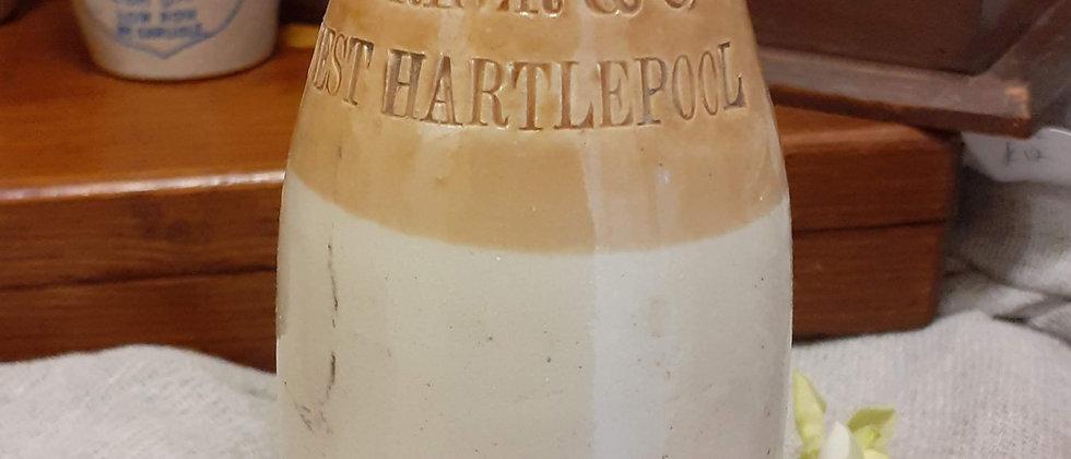 Victorian Stoneware ginger beer bottle