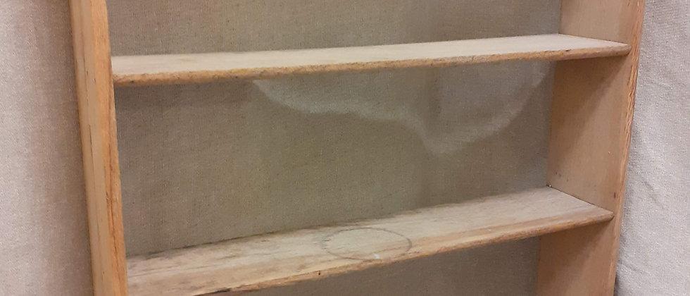 Stripped oak shelves