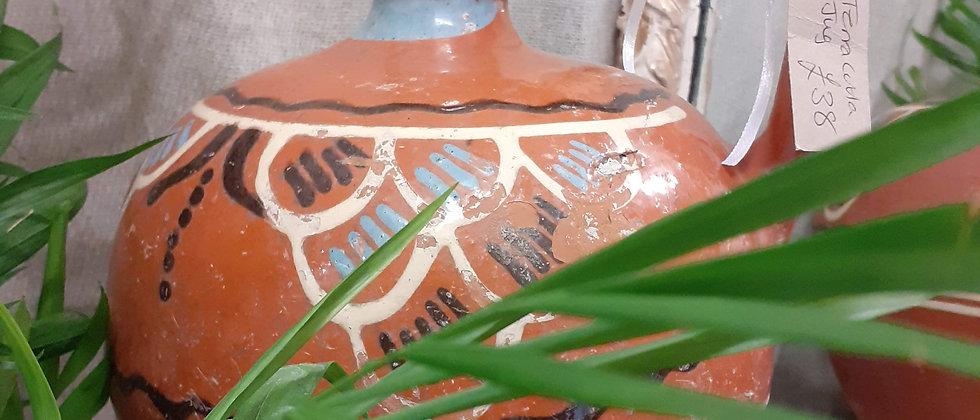 Rustic terracotta water flagon