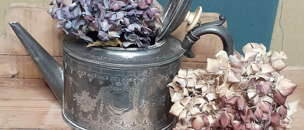 Edwardian silver plated teapot
