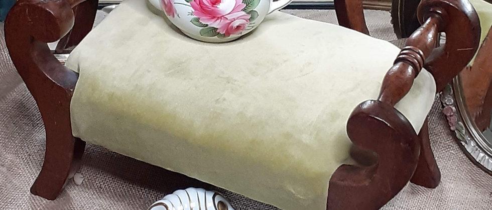 Oak framed foot stool