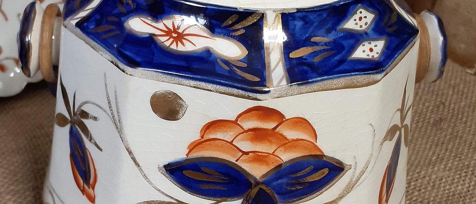 Victorian Imari design biscuit barrel
