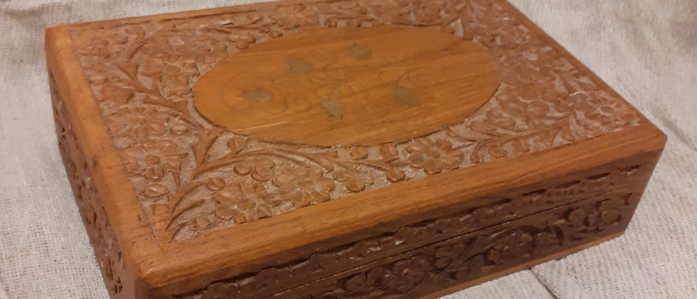 Indian hand carved box