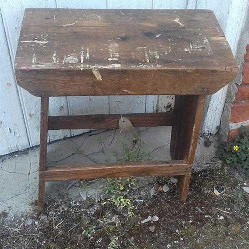 Rustic workshop made stool