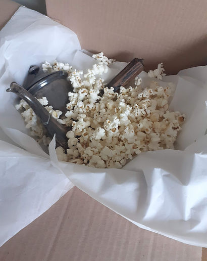 Example of our sustainable packaging utilising popcorn to replace plastic based packaging.