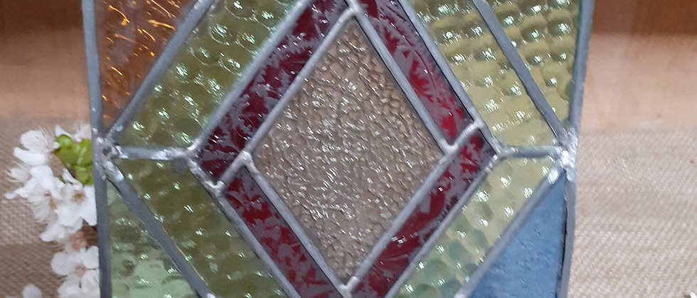 Stain glass window panel
