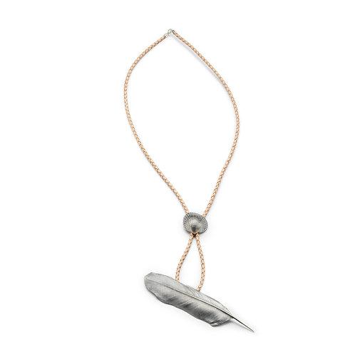 Halskette Feder/Muschel