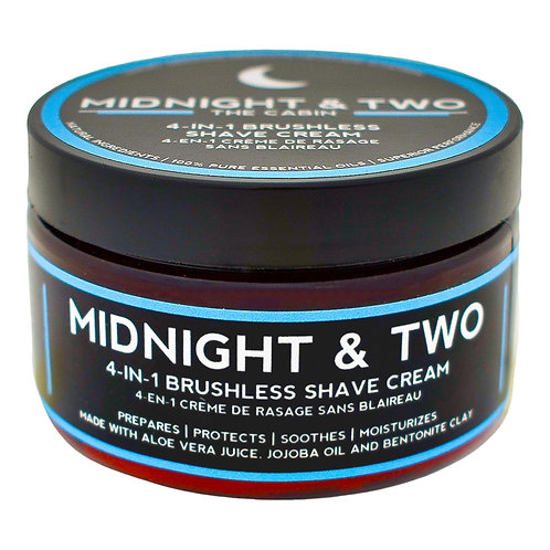 Midnight & Two - 4-in1 Brushless Shave Cream The Cabine (60g)