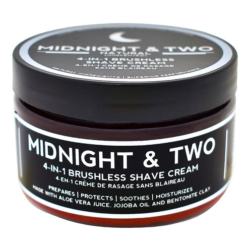 Midnight & Two - 4-in1 Brushless Shave Cream Natural  (60g)