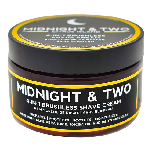 Midnight & Two - 4-in1 Brushless Shave Cream Citrus Island  (60g)
