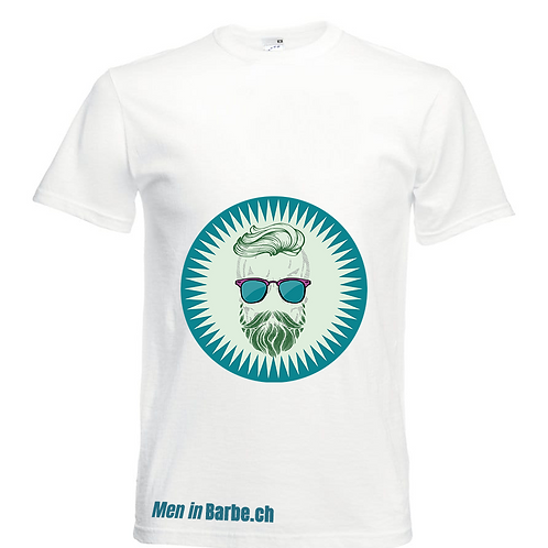 Men in Barbe - White T-Shirt for Men