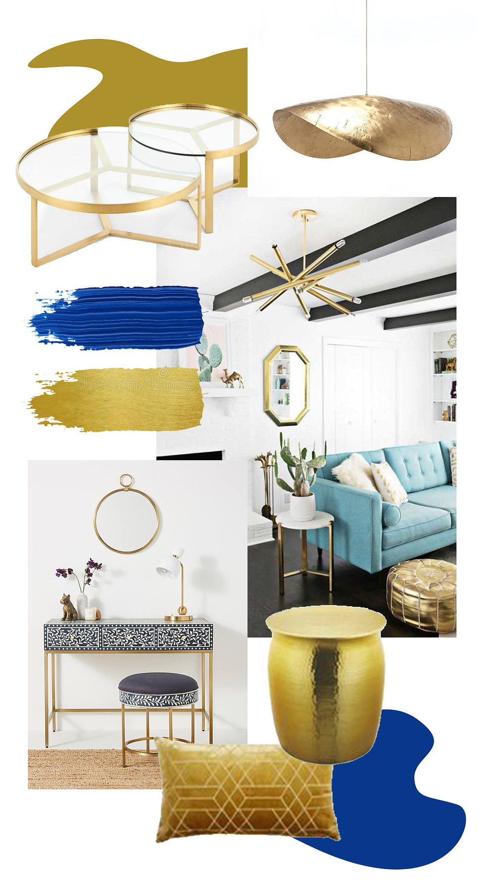 BRASS ACCENTS FOR FURNITURE
