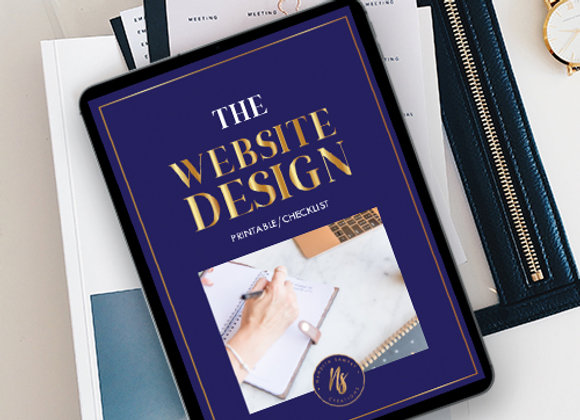 The Sunshine Website Design Checklist