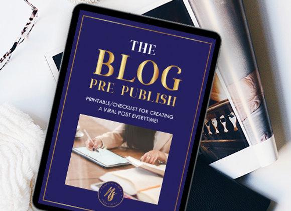 The Blog Pre-Publish and Accomplish Checklist