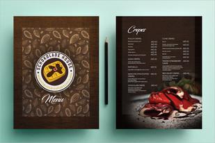 Schokolade House Menu Design