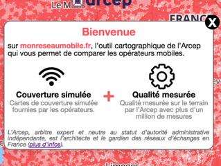Téléphonie mobile : l'Arcep dévoile la carte précise de la couverture réseaux. Venez tester la couve