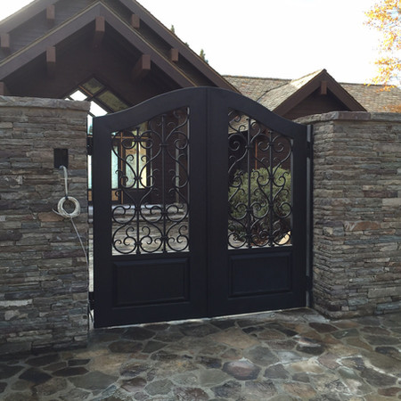 Forged Iron Courtyard Gates -  Dave Butterfield Compound