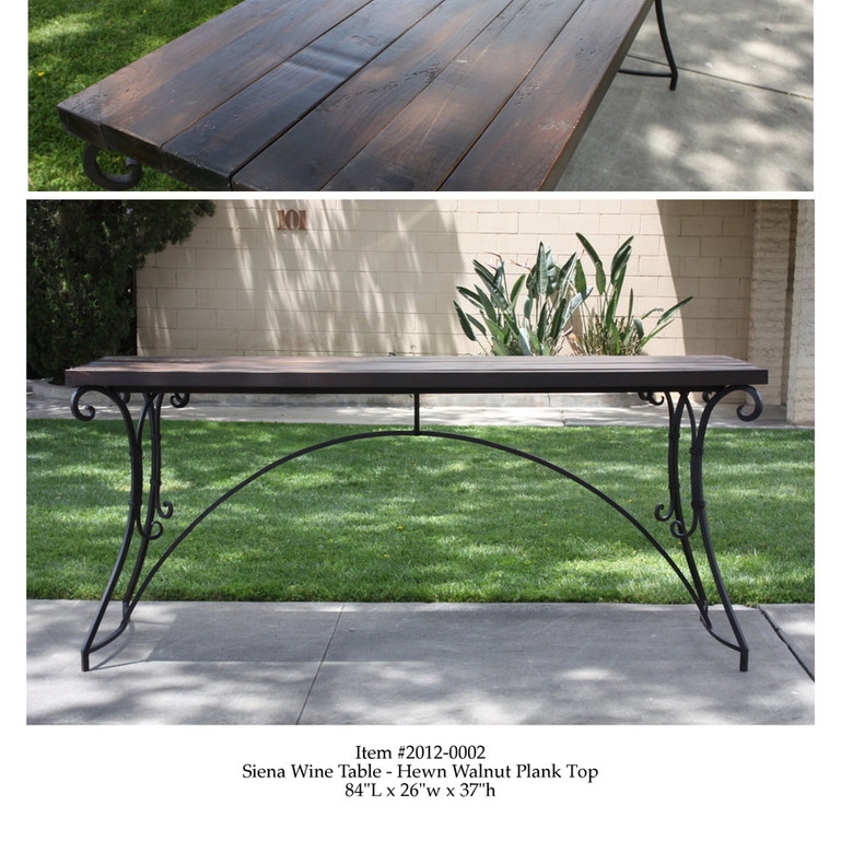 Hand Crafted Walnut and Iron Wine Table - Jim Searing
