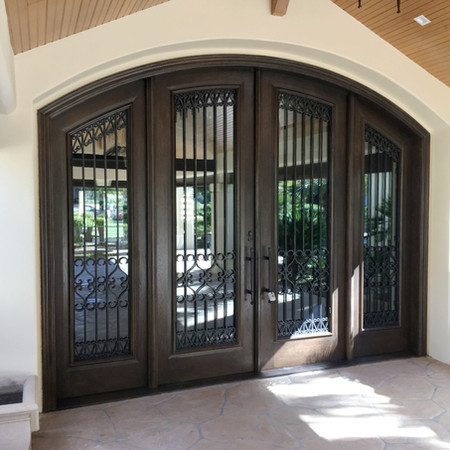 Iron and Wood Entry Unit - Ruffin