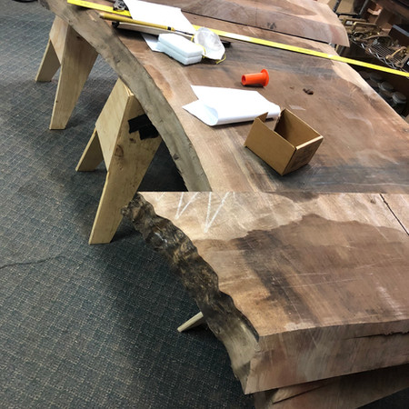 Walnut and Brass Coffee Table (in fabrication)