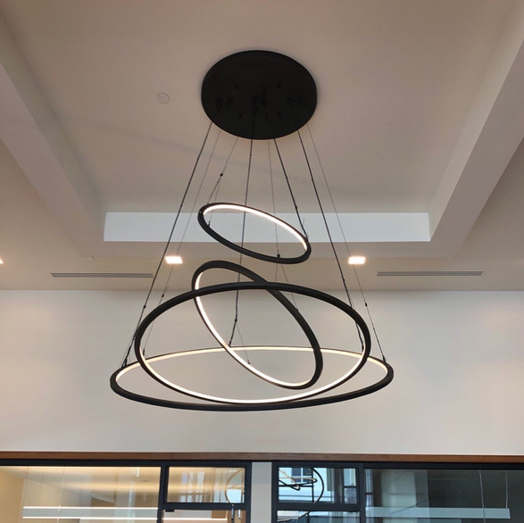 Halo Rings Chandelier 2