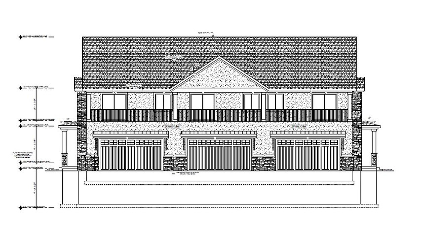 TOWNHOME REAR ELEVATIONS