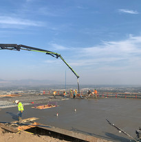 Placement elevated Commercial slab