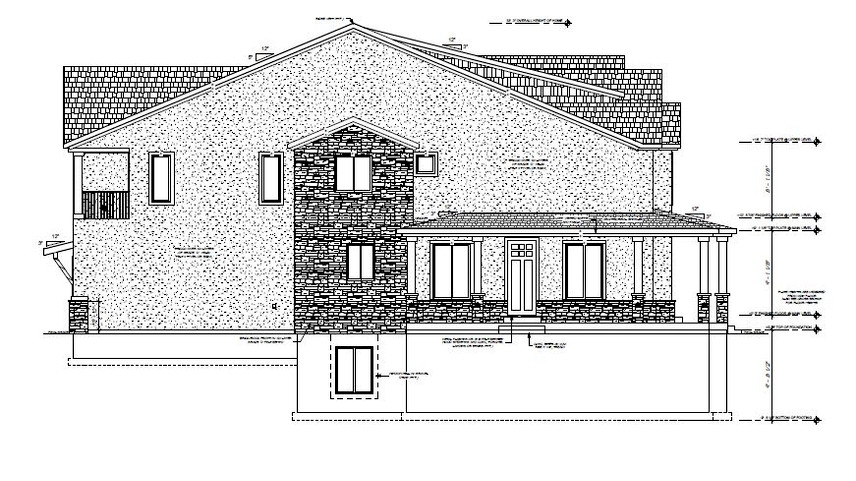 TOWNHOME SIDE ELEVATION