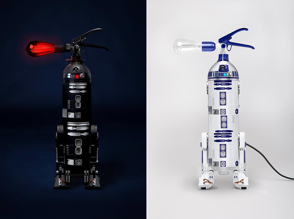 A l'occasion du Star Wars 8 - Les Derniers Jedi et du Star Wars Day #MayThe4thBeWithYou, le directeur artistique A-Broad imagine une collaboration et conçoit deux prototypes à l'effigie de R2-D2 et C2-B5.