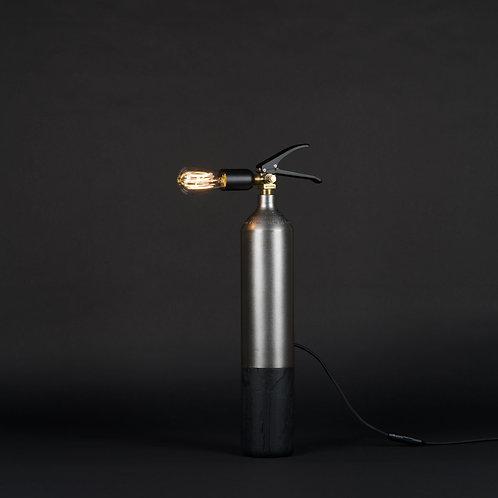 Lampe Oak Steel Burned - M