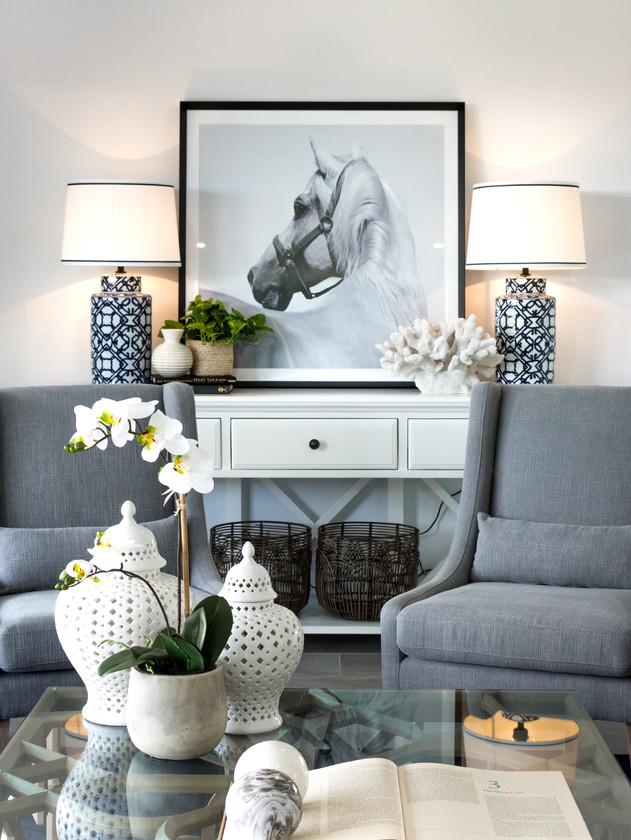 Hamptons styling living room.