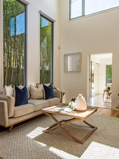 Coastal style living room.