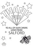 THANK YOU LOVE FROM SALFORD BLACK AND WH