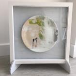 framed printed decorative plate