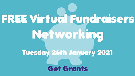 FREE Virtual Fundraisers Networking: 26 January 2021, 10:00 AM - 11:00 AM