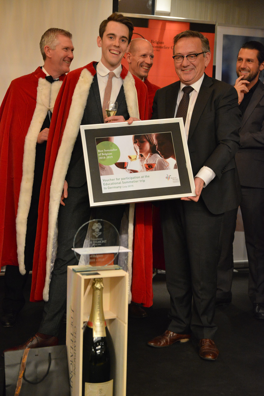 Lucas with Tom Ieven Best Sommelier of Belgium 2018