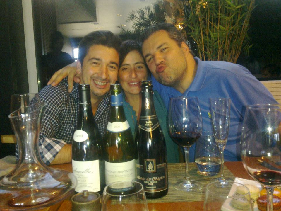 Sergio with Filipa Pato and William Wouters (winemakers in Bairrada)