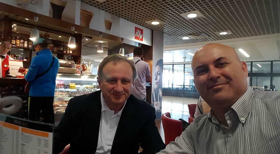 Dashamir with Giuseppe Vaccarini