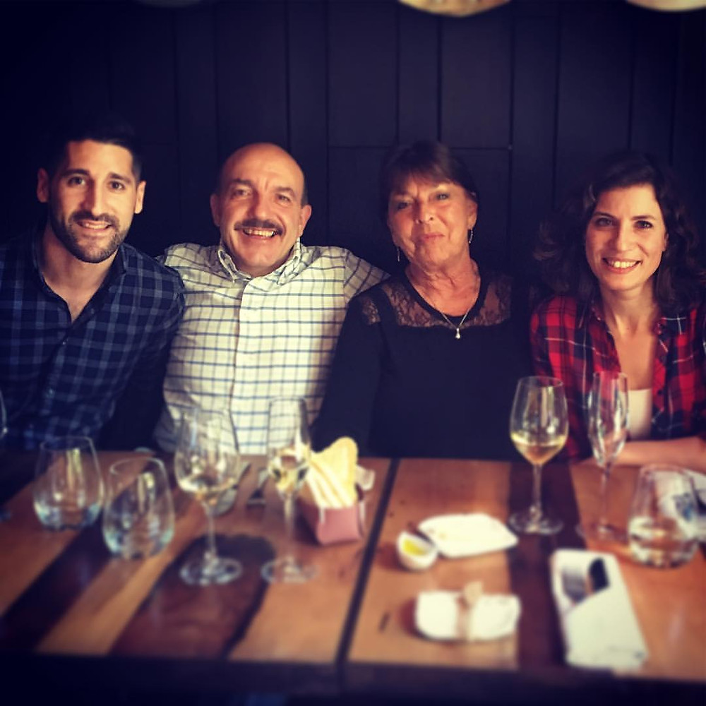 Matias with Gerard Basset, Michèle Chantome and Paz levinson