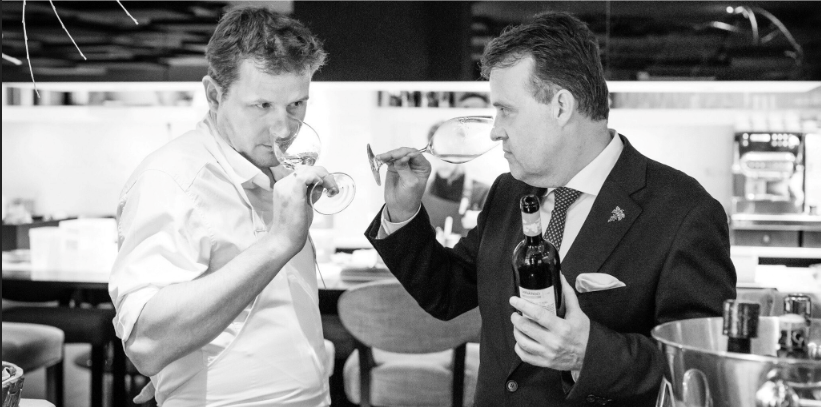 Chef Christophe Hardiquest and Michel by Bonbon