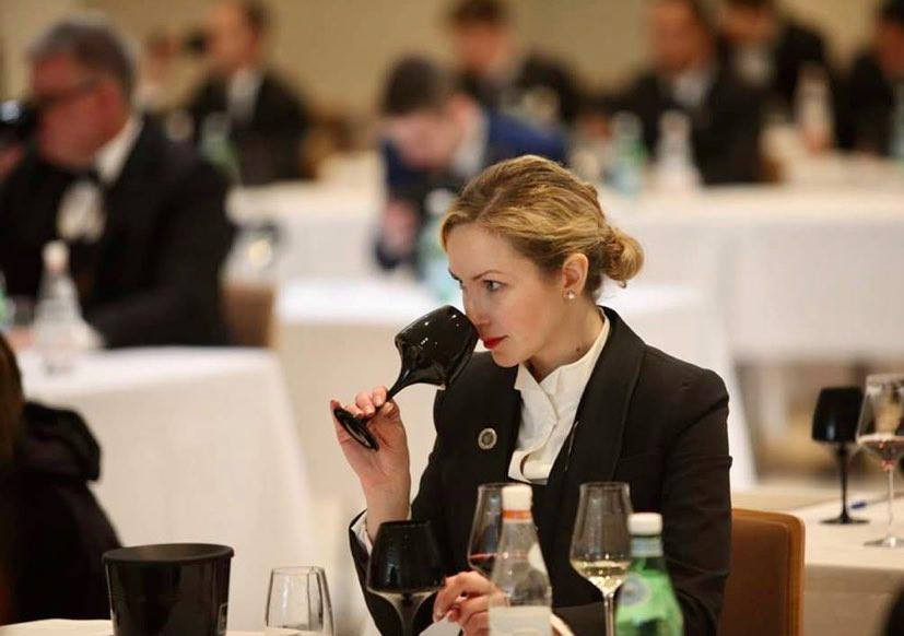 Anna during the 2019 ASI Best Sommelier of the World contest