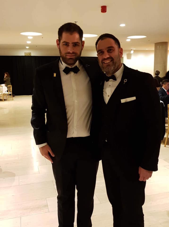 Aris together with George Loukas