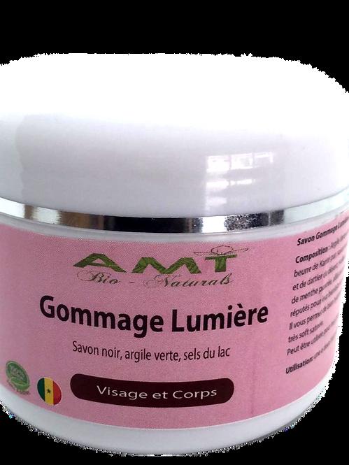 Gommage Lumiere (savon noir, karite, argile et sel du Lac Rose)