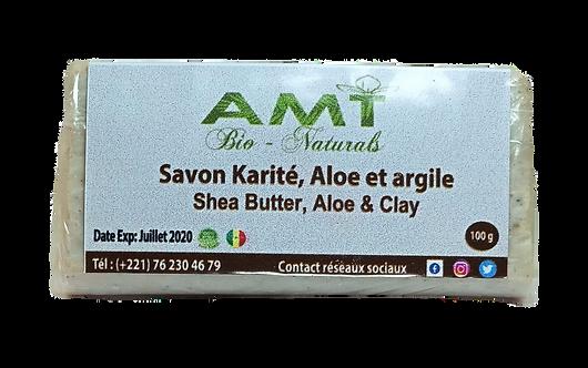 Shea Butter, Clay & Aloe Soap  / Savon Karité, Argile & Aloe