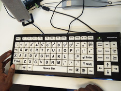 A Keyboard used for testing with VIP