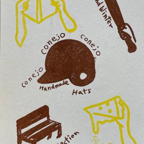 "10/14(thu)~10/16(sat)   conejo   Handmade Hats    2021 2022 Fall Winter "" 忘れてしまう"""