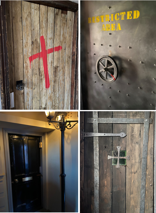 The entrance doors to The Escape Key's rooms