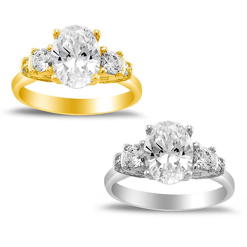 14k Yellow or White Gold 1 5/8ct TGW Oval-cut Diamonette Engagement Ring