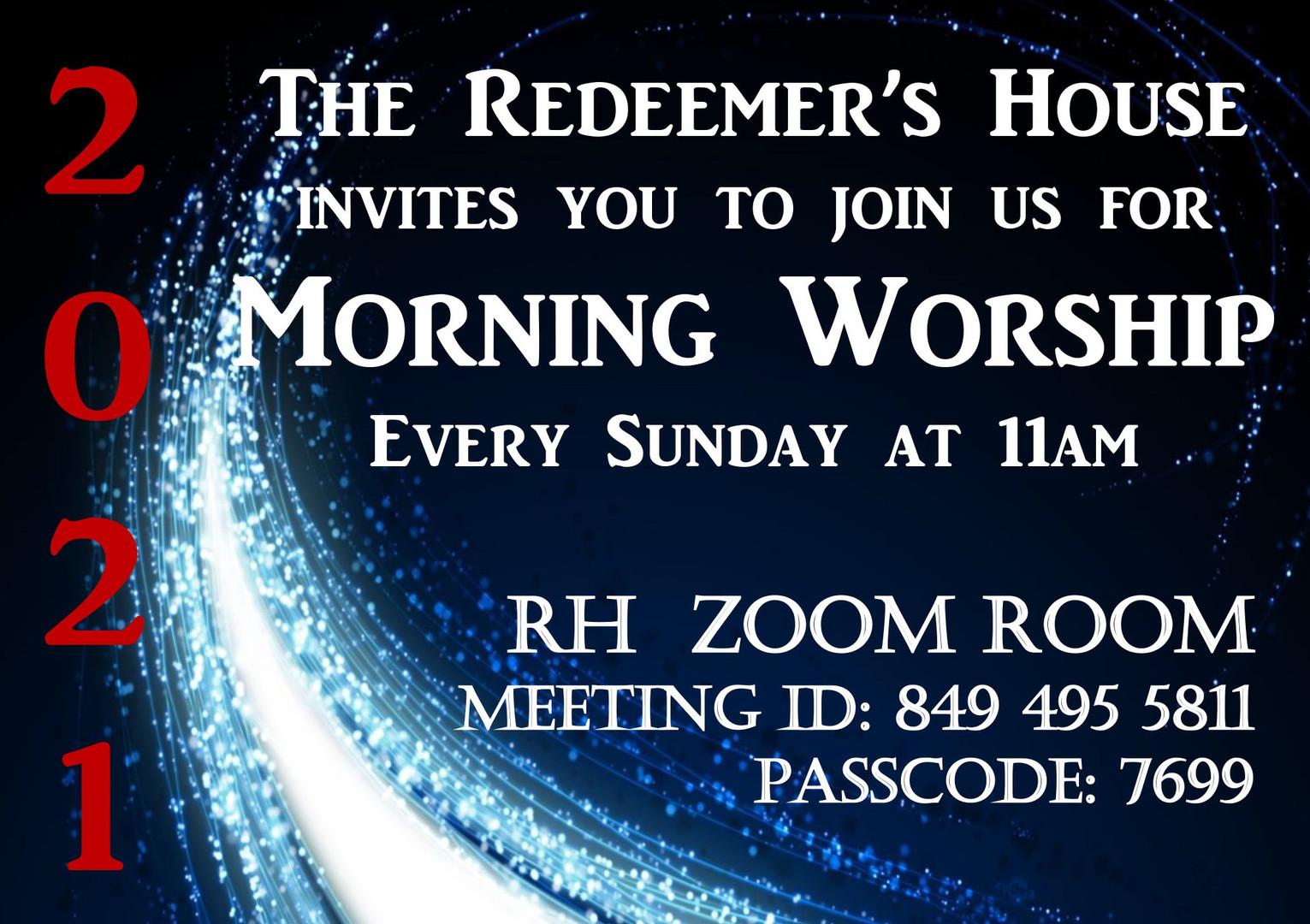 2021 Morning Worship Zoom Room Post Card
